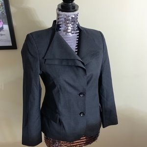 Custom Fit Charcoal Black Blazer Jacket